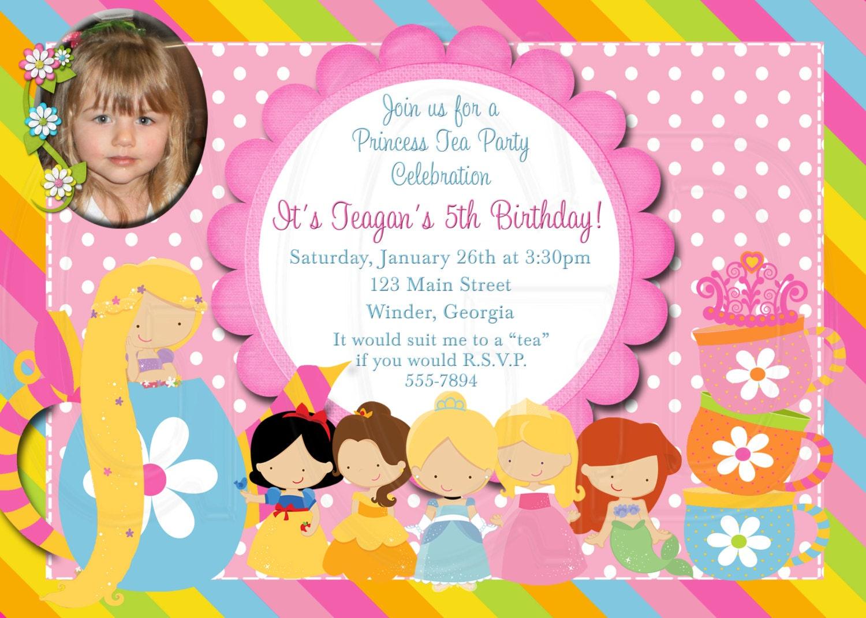 princess tea party invitation - Etame.mibawa.co