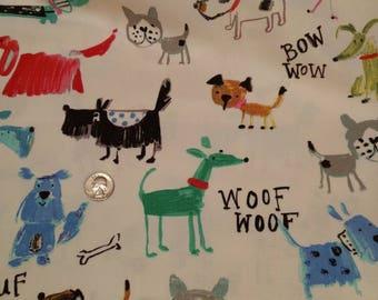Dogs Fabric