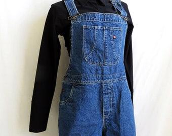 denim shorts overalls. size medium.