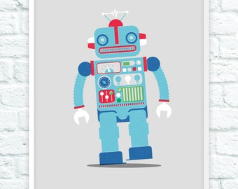 Limited Edition Toy Robot Print - 20 off each size available