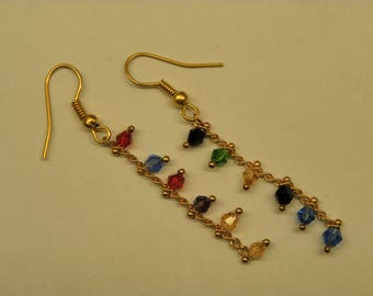Fancy chain earrings