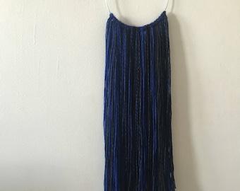 Blue & Black Yarn Wall Hanging