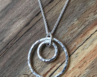 Handmade Silver Circle necklace
