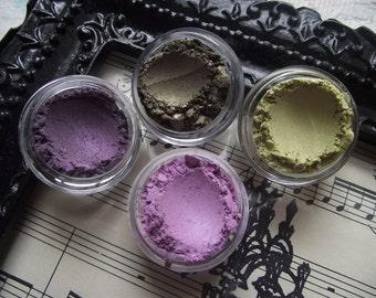 Beautiful Brown Eyes Collection Set of Four Eyeshadow Organic Vegan