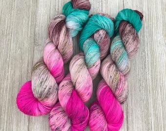 Mythical Creatures - Sugar Sock - Indie Sock Yarn, Indie Dyed Yarn, Speckled Sock Yarn, Hand Dyed Yarn, Sock Yarn, Indie Speckled Yarn