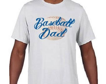 Baseball Dad Tee, White