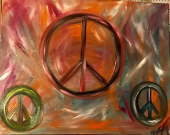 Peace Oil Painting - Peace - an original oil painting by Wendy Margrave