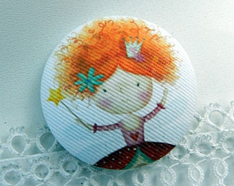 Fabric button, Princess, 32 mm / 1.25 in