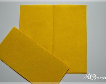 Felt 1 mm 30 x 30 cm yellow fabric