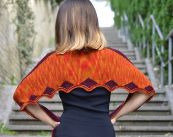 Farfalla, Shawl knitting pattern PDF