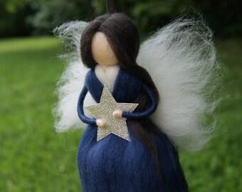Wool Needle felted fairy Waldorf Felted Doll  Christmas favor Nursery Decor