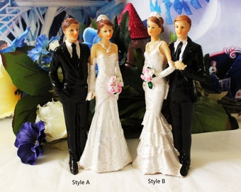Wedding Cake Topper Bride Groom Couple Figurine Party Favor Decoration