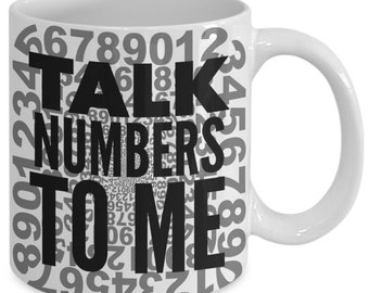 Math themed gifts - numbers - coffee tea cup