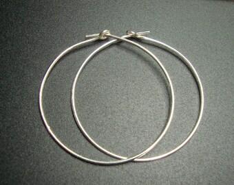 35mm, 21 gauge, Bulk 10 pcs, Bali Artisan, Sterling Silver earring Hoops