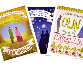 SALE! Jane Austen Mini Prints