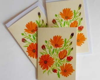 African Daisy greetings card