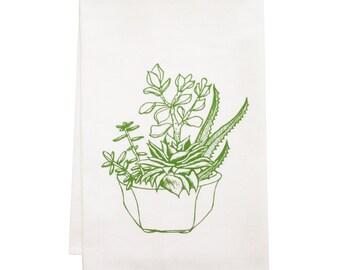 NEW plant organic tea towel