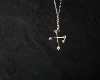 CRUX (The Southern Cross) Constellation Necklace - SMALLER version