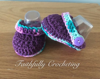 Baby clogs, baby shoes, baby sandals, crocheted baby slippers... ready to ship