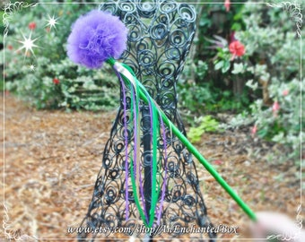 ARIEL MERMAID Inspired Princess Royal Scepter and Fairy Wand for Girls, Dressup Flower Girl Disney Theme Wedding, Little Mermaid