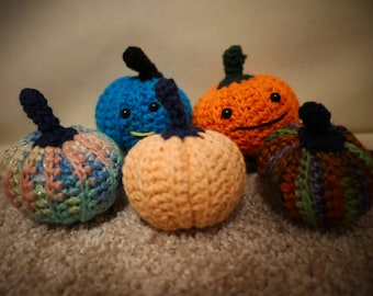 Mini Pumpkins , Multi colored, Solid, Or Sparkle. Choose Your Color, Amigurumi, Stuffed Toys, Decorations, Gifts, All Ages