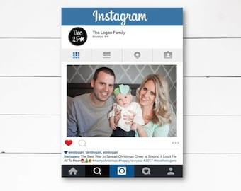 Instagram Christmas Card, Christmas Photo Card, Holiday Photo Card, Funny Christmas Card,  DIY or Printed