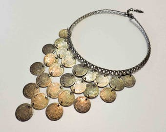 Vintage Belly Dancing Coin Necklace