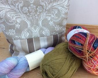 Medium knitting / crochet project bag | shawl | blanket squares | Make up bag |