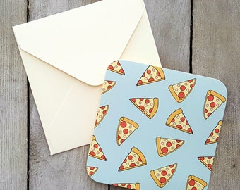 Pizza Mini Cards, Pizza Cards, Blank Mini Cards