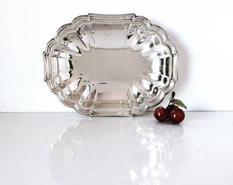 Gorham Silver Plate Serving Bowl Heritage Pattern