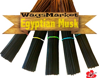 Egyptian Musk  Incense, 100 Hand Dipped - Hand Made Incense Sticks - Egypt Musk Oil, Free Shipping in US.