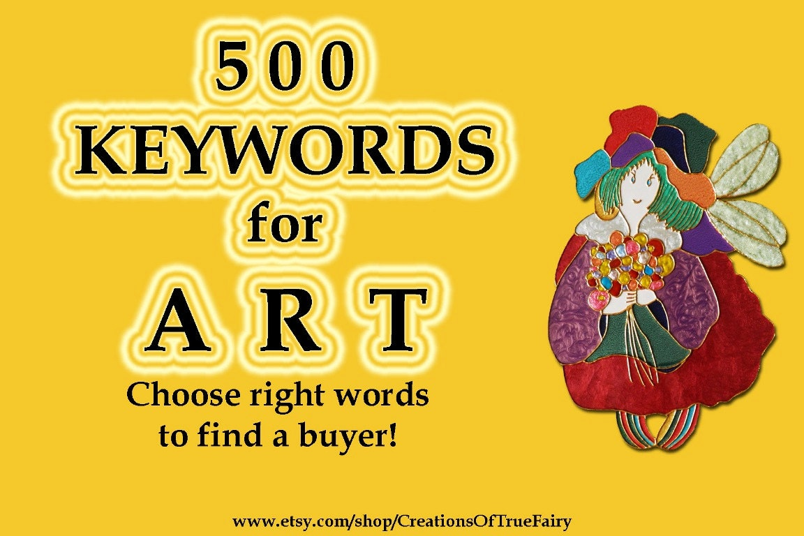 500 Art keywords Top etsy keywords Search optimization Tagging