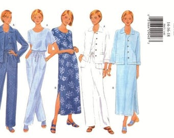 Butterick Pattern 5947 Jacket Dress Top and Pants Size 14-16 UNCUT