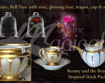 Beauty and the Beast Backdrop   Beauty and the Beast PNG stock pack   Princess Backdrop    Digital Backdrop   Digital Background   PNG stock