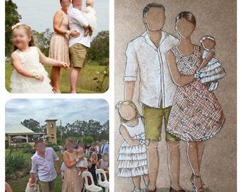 Custom family portrait, Custom Fashion Illustration, Custom Family , Custom Portrait, Personalised Portrait, Custom Illustration