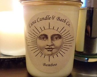Bamboo 8 oz. Wooden wicked soy scented candle