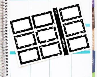Salt & Pepper Half Box Planner Stickers - For use with Erin Condren Vertical Lifeplanner // A24