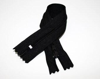 Zipper, 12 cm, black, not separable