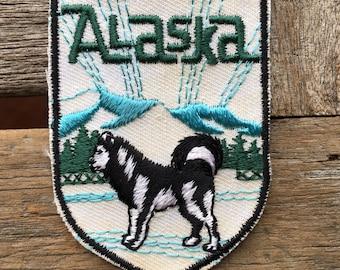Alaska Vintage Souvenir Travel Patch from Voyager