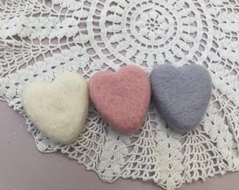 Needle Felted Hearts, Newborn Photography, Tiny Hearts, Valentines Baby Props Hearts, Baby photography props, UK Seller Baby props,