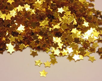 bag of small / tiny gold star confetti , 4 mm (9)