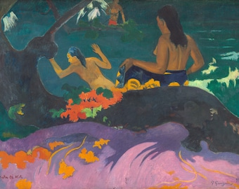 Fatata te Miti (By The Sea) by Paul Gauguin, in various sizes, Giclee Canvas Print
