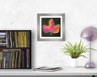 Printable art Original Painting art download fall leaf wall art affordable gift home decor instant download