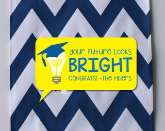 Your Future Looks Bright- Graduation Gift Tags- Graduation Gift Cards