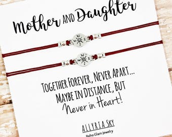 Set of Two Mother Daughter Bracelets | Together Forever | Mom, Daughter Gift Jewelry | Mother's Day | Matching Bracelets | Mom Daughter Set