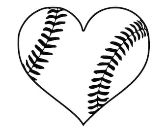 Love Baseball #27 Heart Tournament Ball Bat League Equipment School Team Game Field Sport Logo.SVG .EPS .PNG Vector Cricut Cut Cutting File