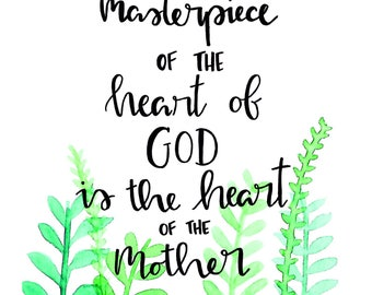 Heart of a Mother St. Therese of Lisieux 8x10 Art Print