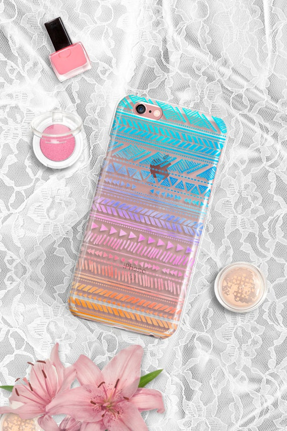 Aztec Clear iPhone 6 case Clear Rubber iPhone 6s case Tribal iPhone 6 plus case Rubber iPhone 6s plus case iPhone 5S case Samsung Galaxy S6