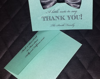 Little Man Baby Shower Thank You Card, Bow Tie Baby Shower Thank You, It's a Boy Baby Shower, Baby Shower Thank you Card