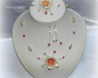 CLARISSE - Set wedding flower ivory rose